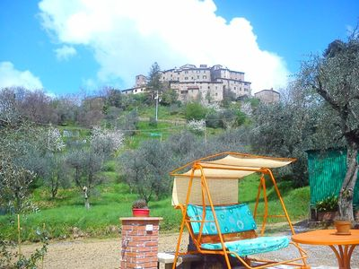 House with garden with olive trees