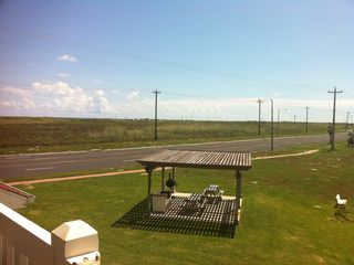 North Padre Island condo photo - Bar-b-que right out your door