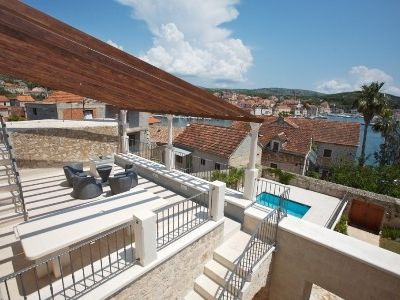 Milna villa rental - Terrace views