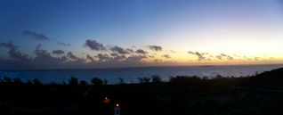 Great Exuma house photo - Sunrise from the 60' deck over the ocean
