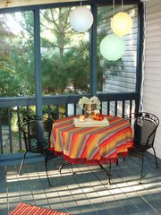 Annapolis cottage photo - Thanksgiving on the screened porch with enough room for family and friends.