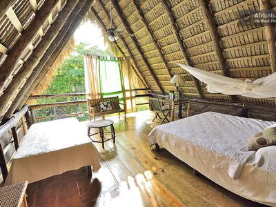 Cacique Eco Luxury suite, sleep at the top, hear the waves watch the starlight