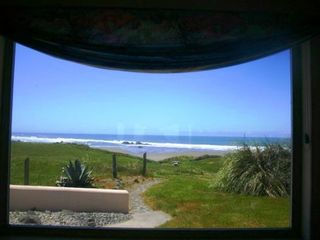 Bandon house photo - Beach view from Dining Room showing path to your beach