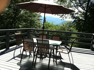 North Conway house photo - Back Deck with View