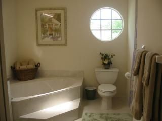 Sebastian house photo - Master Bath with Garden Tub and Separate Shower