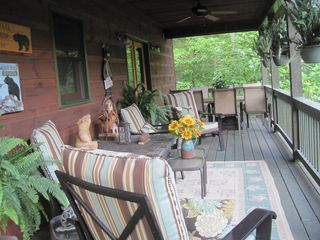 Ellijay cabin photo - Enjoy Dining or Just Relaxing Listening To The River