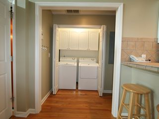 Washer/dryer closet - Folly Beach house vacation rental photo