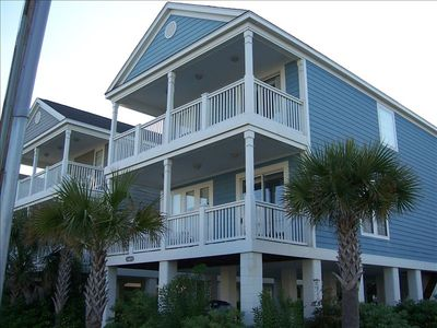 Front of home with 2 ocean forward porches - GREAT VIEW!!