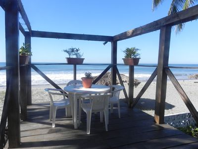 'Margaritaville' 8 foot high beach deck. amazing for coffee in morning