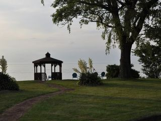 Vermilion house photo - Backyard with full view of Lake Erie and its beautiful sunsets!