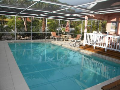 Large Pool, Patio and decking
