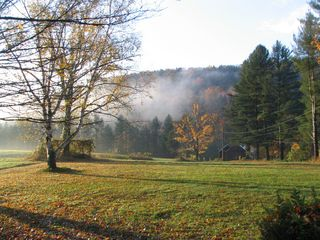 Wardsboro farmhouse photo - early morning from kitchen window