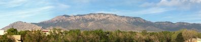 Panoramic view of the Sandia Peak.