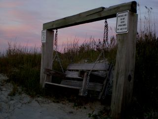 A north beach swing, great for watching sunsets - Tybee Island cottage vacation rental photo