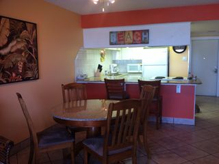North Padre Island condo photo - Kitchen and dining area.