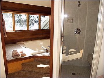 Master Bathroom Shower and Jacuzzi Tub