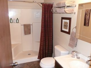 Hedgesville cottage photo - Master bath with large shower
