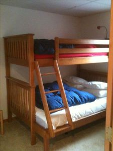Bedroom with bunkbed (double on bottom, twin on top) Sleeps 3