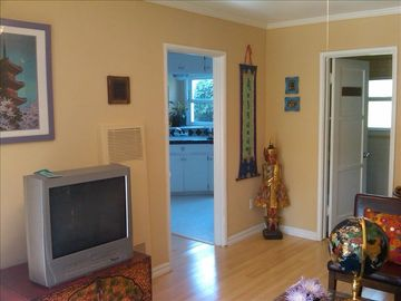 Charming decor. New hardwood floors, T.V. with cable, DVD player in living room