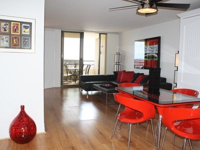 Marina del Rey condo rental - Dining-living room creates a Marina Haven and offers spectacular views
