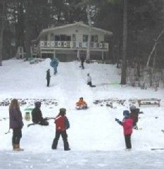Conway chalet photo - Your own private tubing park in winter
