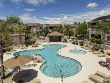 Scottsdale North condo rental - Spacious Balcony Overlooking Pool.Ideal for morning coffee or evening cocktails