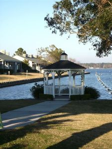 Another awesome spot to on the property to admire the beauty of Lake Conroe