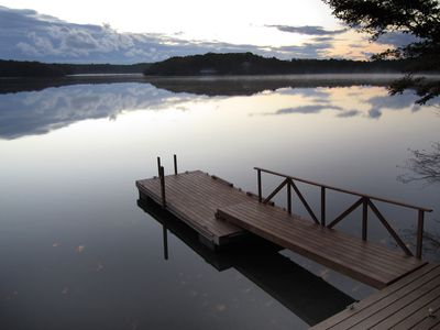 The dock on Santuit Pond.