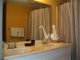 Meridian Plaza condo photo - Updated Bathroom with Double Marbel Sinks