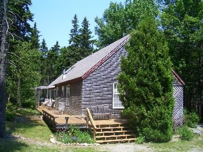 Bass Harbor house rental - Quiet wooded setting