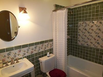 Third full bath w/ gorgeous tiled shower over tub