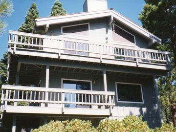 Incline Village house rental - Mountain home with views of Lake Tahoe! The 3rd floor master suite not pictured.