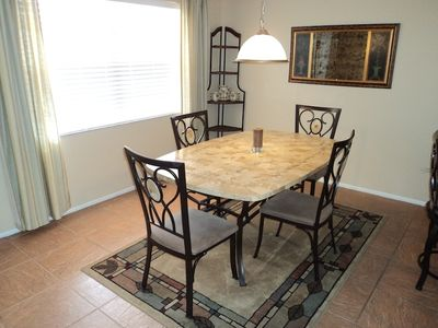New furniture in dining area & pass through to kitchen with eating area.