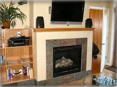 Gas Fireplace & Flat-Screen LCD HD Television