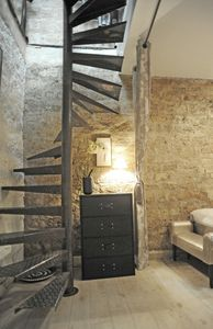 Stairs to go to the bedroom and bathroom