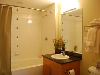 Winter Park condo photo - Bathroom with extra deep and long tub, soak away those tired muscles.
