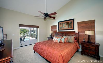 Vacation Homes in Marco Island house rental - Master King Bed with Premium Linens, LCD