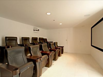 Indoor theatre with leather reclining seats