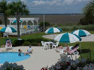 Harbor Island condo photo - Harbor Island Beach & Racquet Club...kiddie wading pool in foreground