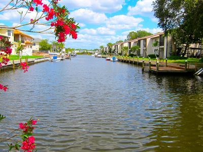 Peaceful Canal leading to Tampa Bay