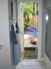 Key West house photo - Master bath leading to Spa/pool area