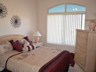 Mesa condo photo - Second bedroom, queen bed and closet with end table and dresser