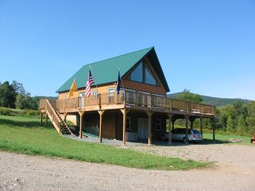 Jay Peak house rental - Plenty of parking for large trailers and snowmobiles