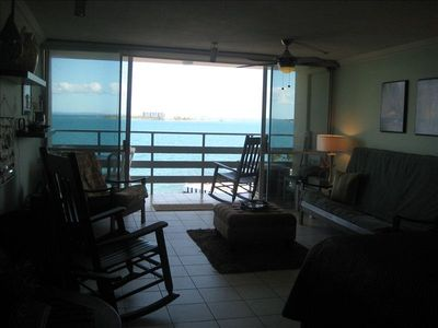 View of the Ocean from the Apartment Balcony