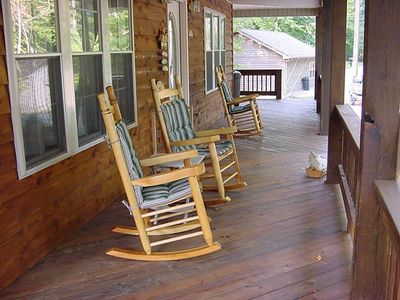 Relax on our porch rockers