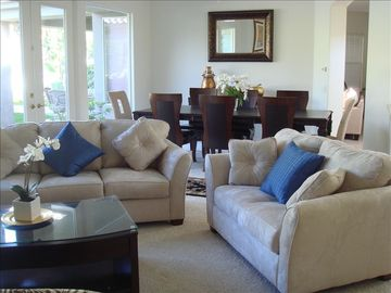 Rancho Mirage house rental - Formal Living Room and Dinning Room