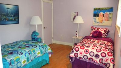 Fourth bedroom - adolescent theme (also have high chair stroller & play-pen).