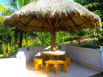 Stay cool under the Palapa table