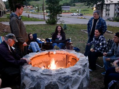Enjoy one of our fire pits to have a BBQ, or to just sit and relax by a fire.