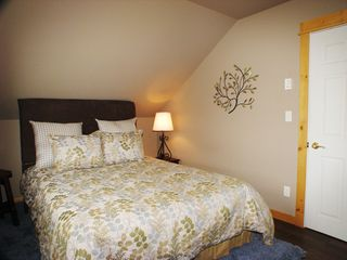 West Yellowstone house photo - Apartment bedroom with queen bed - Apartment is accessed via separate entrance.